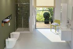 Ideal Standard | Connect:  Kies uit drie verschillende wastafelvormen om je perfecte badkamer te creêren. Met bijpassende meubels, spiegels en baden biedt Connect slimme, functionele oplossingen tegen een betaalbare prijs. De serie is nu helemaal compleet met de nieuwe Connect Blue kranen.