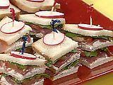 Italian Club Finger Sandwiches.
