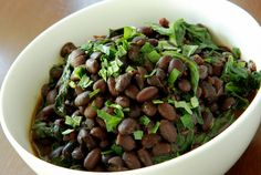 Mexican Spicy Citrus Black Beans with Spinach