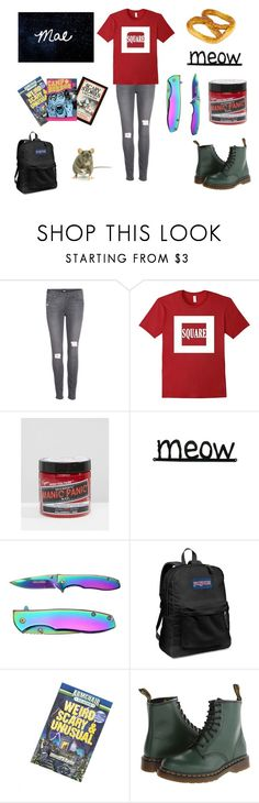 """""""Mae: A Night in the Woods"""" by thornlady ❤ liked on Polyvore featuring Paige Denim, Manic Panic NYC, JanSport and Dr. Martens"""