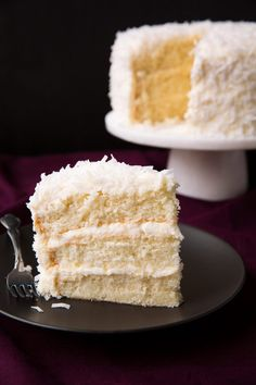 The Best Coconut Cake - Cooking Classy Coconut Desserts, Just Desserts, Delicious Desserts, Dessert Recipes, Coconut Cakes, Food Cakes, Cupcake Cakes, Cupcakes, Best Coconut Cake Recipe Ever