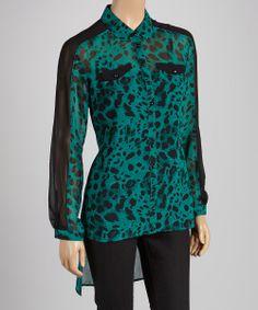 Leopard Button-Up