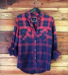 ERIN - RED/NAVY OMBRE - Rails - Los Angeles, CA - mens denim button down shirt, mens a shirt, mens button short sleeve shirts *ad