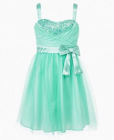 Ruby Rox Girls Dress Tulle Sequin