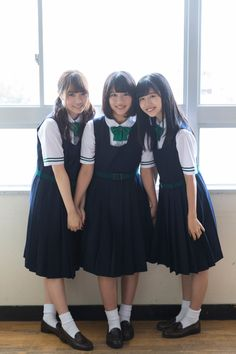 Best 11 Not minisuka, but SO Cute! Japanese School Uniform Girl, School Uniform Fashion, Cute School Uniforms, School Girl Dress, School Girl Japan, School Uniform Girls, Girly Outfits, Cute Outfits, Fashion Outfits