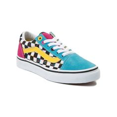 shoes Youth Vans Old Skool Chex Skate Shoe - Multi - 1498206 Vans Shoes Fashion, 80s Shoes, Sock Shoes, Vans Skate Shoes, Girls Shoes, Custom Vans Shoes, Cute Vans, Shoes Wallpaper, Vanz
