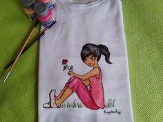 Mis manos y yo el blog de Angeleskay: camisetas pintada a mano