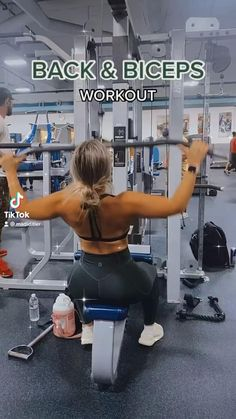 Upper Body Workout Gym, Back And Bicep Workout, Slim Waist Workout, Biceps Workout, Back And Biceps, Shoulder Workout, Back Exercises Gym, Arm Workouts, Gym Workout Videos