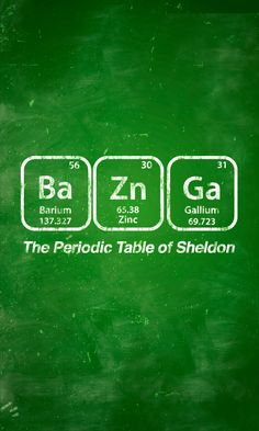 Periodic Table of Sheldon – Big Bang Theory Poster