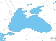 Black Sea : free map, free blank map, free outline map, free base map : hydrography, states