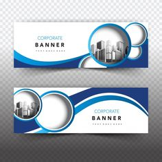 Blue and white business banner Free Vector ~ vectorkh Web Design, Flyer Design, Advert Design, Media Design, Banner Vector, Banner Template, Modele Word, Best Banner Design, Facebook Cover Design