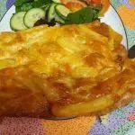 Παγωτό σάντουιτς Στρατσιατέλα Lasagna, Baked Potato, Macaroni And Cheese, Potatoes, Meat, Chicken, Baking, Ethnic Recipes, Food