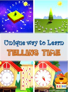 A fun app helping kids learn telling time - from sun dial to today's clock, kids not only learn how to tell time, but also time related knowledge, like why we have 24 hours a day. - via iGameMom.com --  #kidsapps #mathapps