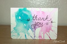 lovely DIY Thank You cards