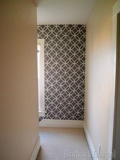 Royal Design stencil accent wall!  love