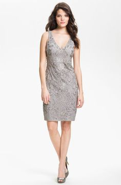Free Shipping And Returns On Sue Wong Embellished Illusion Back Sheath Dress At Nordstrom An Intricate Design Of Ribbons Soutache Beadwor