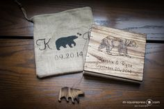 Bear Personalized Rustic Guest Book