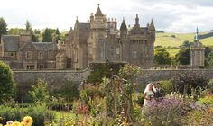 Abbotsford, the home of Sir Walter Scott. A breathtaking place to visit located on the banks of the River Tweed in the glorious Scottish Borders. Huge Houses, Her Majesty The Queen, Magical Wedding, Gothic Architecture, Barcelona Cathedral, Backdrops, Places To Visit, Castle, Wedding Venues