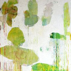 Meredith Pardue.  Leaves.  Ink, oil, oil crayon on canvas.