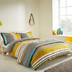 Ben de lisi home world print map bedding set at debenhams harlequin bali stripe king duvet cover charcoal gumiabroncs Images