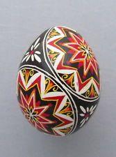 Pysanka, Real Ukrainian Easter Egg Hen Chicken Shell, Geometric Design, E18