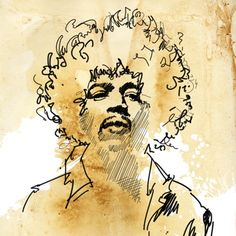 JIMI HENDRIX Rock and Roll hip chic modern by mediagraffitistudio,