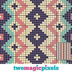 Discover thousands of images about Aztec Design 2 crochet graph mini sc hdc dc Tapestry Crochet Patterns, Crochet Stitches Patterns, Knitting Patterns, Cross Stitch Patterns, Crochet C2c, Crochet Diagram, Crochet Home, Crochet Cross, Crochet Bags