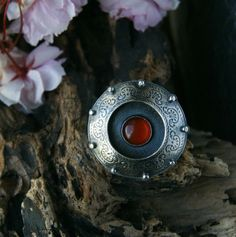 A Setting Sun Carnelian Sterling Silver Ring by MercuryOrchid