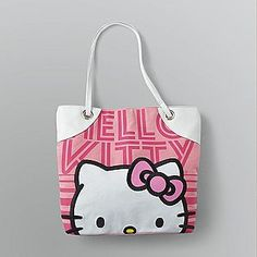 Hello Kitty -Canvas Logo Tote Bag
