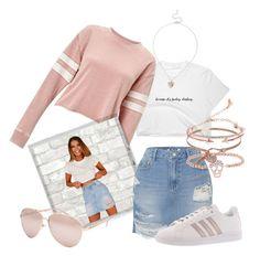 """Denim Skirt & Shirt"" by okittyocaito ❤ liked on Polyvore featuring Miss Selfridge, Polaroid, SJYP, Gabi Rielle, Full Tilt, BCBGeneration and adidas"
