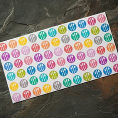 Circle Meal Planning Stickers  66 ct for Erin by adrianapiper