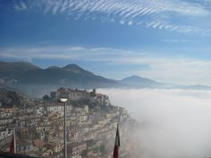 Muro Lucano: Up above the clouds..I remember the winding stone roads