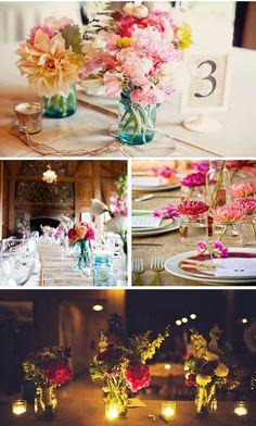 Decoraciones para las mesas