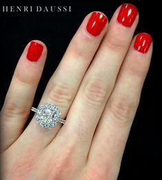 Henri Daussi diamond engagement ring.