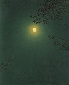 Yajuro Takashima (Japanese 1890-1975) Mangetsu, 1963. I might pin this here & on my art board - I really like it