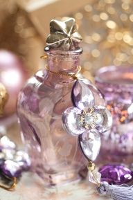 lavender silver and gold sparkles