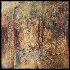 Tanya Bonello, Rust series, No 117, Earth homage, 400x400mm, gypsum, rust and oil on board, 2004 Collage Art Mixed Media, Mixed Media Canvas, Artist Painting, Abstract Paintings, Rust Paint, Watercolor Sunflower, Diy Art Projects, Contemporary Abstract Art, Texture Art