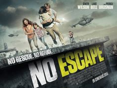 Poster for New Intense Thriller No Escape Featuring Owen Wilson and Lake Bell