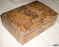 Game of Thrones wooden box  beige Westeros map by UrdHandicrafts, $35.00