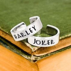 Joker and Harley Ring Set - Best Friends - Couples Ring Set Style B