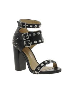 a4e6578974ad1b River Island Studded Block Heel Sandals - We Love Runway Shoes