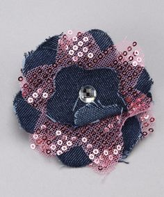 #denim #flower #clip