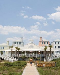 From a vantage point on the beach, the resort resembles Charleston's Rainbow Row. #Jetsetter