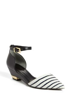 Two of our favorite things - stripes and Tory Burch shoes!