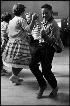 Kids on the dancefloor, Orinda, California, 1950.