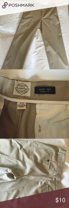 St John's Bay NWOT Worry Free Classic Fit Never worn perfect condition St john's Bay Pants Chinos & Khakis