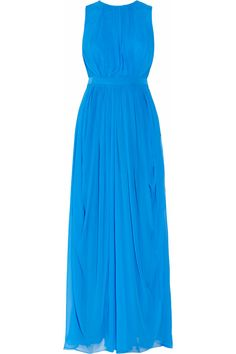 Tibi Draped silk-chiffon gown NET-A-PORTER.COM Colour!!! and Cut