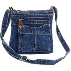 Faded Glory Slip Pocket Missy Passport Handbag, Women's, Blue – SkillOfKing. Denim Tote Bags, Denim Purse, Blue Jean Purses, Denim Shoulder Bags, Recycle Jeans, Recycled Denim, Old Jeans, Purses And Handbags, Faded Glory