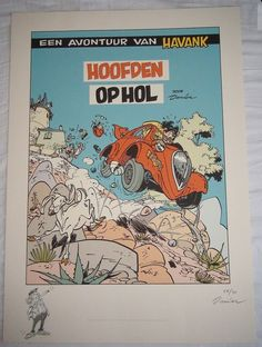 Online veilinghuis Catawiki: Havank - Hoofden op Hol - door Danier (Daan Jippes) gesigneerde giclee - met originele potloodtekening - (2006)