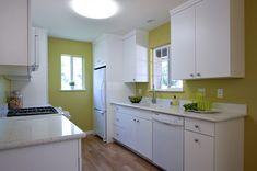 Lime green kitchen walls